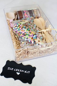 Ice cream kits: http://www.stylemepretty.com/living/2015/02/23/30-of-the-best-party-diys-ever/