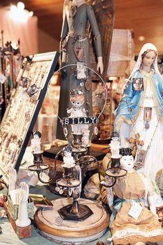 candelabra assemblage: kecia deveney