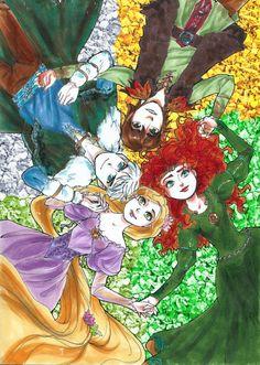 http://www.disneycentralplaza.com/t35266p140-fan-art-merida-rapunzel-jack-et-hiccup-the-big-four