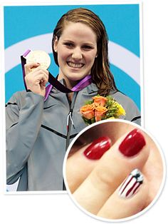 When Missy Franklin stepped up to receive her shiny new medal after the women's 100 meter backstroke yesterday, we couldn't help but notice her star-spangled manicure! http://news.instyle.com/2012/07/31/missy-franklin-gold-medal-manicure/#