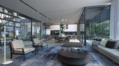 Diseño de interiores de sala comedor