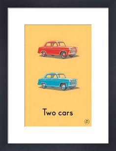 Two cars by Ladybird Books'. Massive range of art prints. Quality UK framing & Money Back Guarantee! Art Deco Print, Poster Prints, Art Prints, Posters, Ladybird Books, Picture Frames, Book Art, Kids Room, Canvas