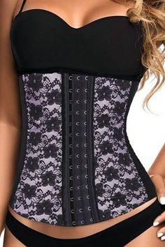 55e458548b437 Womens Light Pink Steel Bones Waist Cincher with Hooks Plus Size Corset