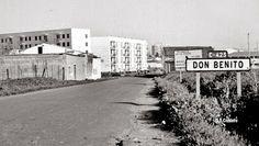Don Benito. C-423. Cartel de entrada a la localidad.