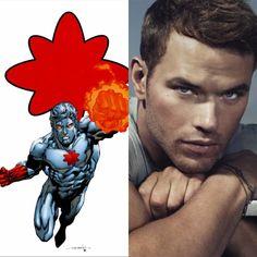 Kellan lutiz or captain atom dc super hero