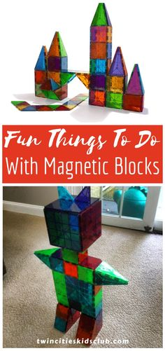 """Twin Cities Kids Club Blogs: Fun Things To Do With Magnetic Blocks - Magnetic blocks are fantastic toys that are so much more than """"just"""" toys. They are wonderful for building, exploring, experimenting, and designing. The beautiful colors draw children in and encourage them to play for hours. 