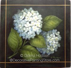 The Decorative Painting Store: White Hydrangea Pattern - Donna Hodson, Newly Added Painting Patterns / e-Patterns