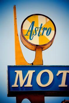 Astro Motel Vintage Plastic Sign - Vintage Los Angeles