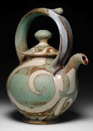 Brad Henry Pottery ~ Tea is the most commonly consumed beverage in the world, second after water. Pottery Teapots, Teapots And Cups, Ceramic Teapots, Ceramic Pottery, Pottery Art, Ceramic Art, Glazed Pottery, Brad Henry, Teapots Unique