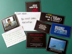 Open when you need motivation. This envelop has some pictures that are truly motivational while some of them are funny motivation.  I also included a letter.