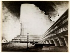 Hugh Ferris- Transportation Terminal.