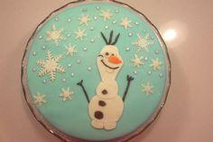 Zelfgemaakte Olaf/ frozentaart