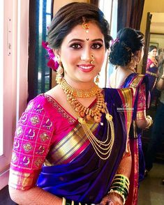 Pin By Madhur Sach On Sarees Special 2 Saree, Dress In 2019 . Pin by madhur sach on Sarees Special 2 saree, dress in 2019 maharashtrian bridal makeup trends 2019 - Makeup Trends 2019 Bridal Hairstyle Indian Wedding, South Indian Bride Hairstyle, Bridal Hair Buns, Indian Bridal Hairstyles, Wedding Sari, Indian Bridal Outfits, Bride Indian, Kerala Bride, Bridal Sari