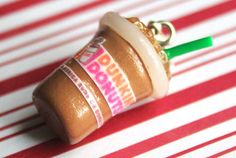 polymer clay dunkin donuts charm miniature food by CMYKlays