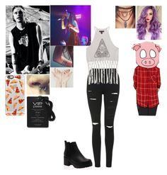 """""""Tour with bf Michael and bff Rena"""" by cierahood ❤ liked on Polyvore featuring Topshop and Casetify"""