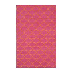 Pink & Orange Brooke Cotton Carpet | MADELINE WEINRIB