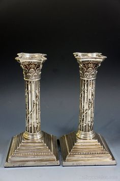 Antiques Atlas - Pair Of Fine 19th Century Silver Candlesticks