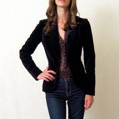 Vintage velvet blazer