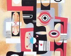 Mid Century Modern Eames Retro Limited Edition by LTillmanArt