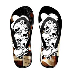 4523ba69f872 Amazon.com  Shehe Neon Skull Unisex Summer Beach Flip-flops Thong Size M  Black (6089542179539)  Books