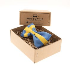 Swedish Flag - Mrs Bow Tie @Pamela Culligan Hichens Allison let's get Connor this for prom lol
