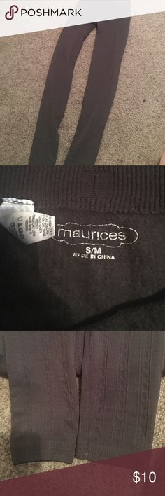 Maurice's size S/M leggings gray fleeced lined Maurice's size S/M fleece lined leggings on the inside worn once super warm Maurices Pants Leggings