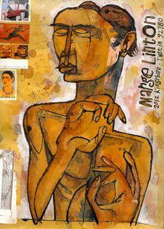 Joe Linton's envelope artwork to his mom, circa 2005.