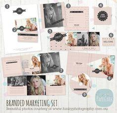 Photography Marketing Set  Branded Logo Set by PaperLarkDesigns, $37.95 https://www.etsy.com/listing/162566160