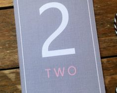 DELUXE Wedding Table Number, personalised, printable, downloadable, by AnnaVictoriaDesigns