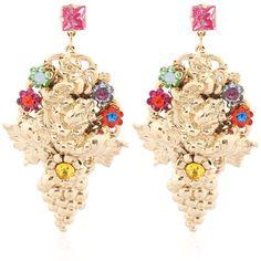 Halo & Co Women English Garden Earrings Swarovski Crystal Earrings, Crystal Jewelry, Flower Earrings, Dangle Earrings, Flower Jewelry, English Garden Cocktail, Vintage Accessories, Women Jewelry, Fashion Jewelry