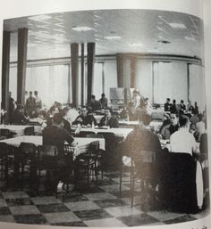 Breakfast and lunch were served cafeteria style at this time period. As a result, students could be moved through cafeteria lines quickly at breakfast and lunch