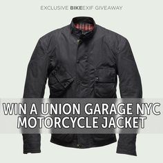 Today we've got an exciting giveaway for Bike EXIF readers: the chance to win a beautiful Union Garage NYC 'Robinson' motorcycle jacket worth $699. We're also giving away one of Union Garage's famous 50-piece Tool Rolls, plus your choice of a Bell Bullitt helmet with a bonus faceshield, or a Shoei RF-1200.