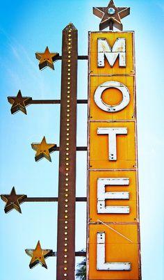 I love old motel signs.