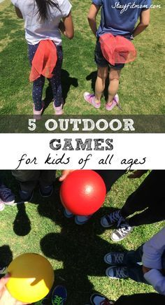 These are the top 5 outdoor games your kids will love! Perfect for kids summer fun!