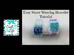 Craft Life ~ Easy Straw Weaving Yarn Bracelet Tutorial with a Sliding Knot Closure - YouTube