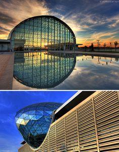 Feria Valencia Convention and Exhibition Center, Spain via weburbanist