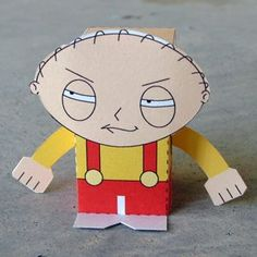 Family Guy printable paper toy