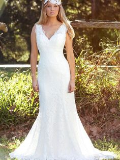 20f17ae55f67 Laken. LAKEN L1031z v neck fitted lace low back wedding dress Luv Bridal  Gold Coast Australia