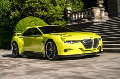 BMW CSL Hommage Concept World-Exclusive First Drive - Automobile Magazine Bmw Z3, Lamborghini, Audi, Bmw Autos, Bmw 7 Series, Yellow Car, First Drive, New Bmw, Car Car
