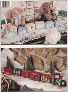 Holiday Trains Leisure Arts Plastic Canvas by LucyGooseyDolls