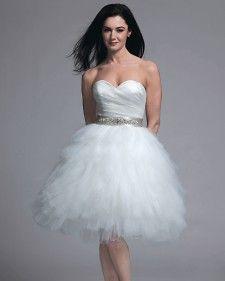 Short wedding dresses seen on the runways at spring 2013 bridal fashion week.