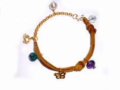 Handmade bracelet made of suede leather a 22 by twolittlefairies