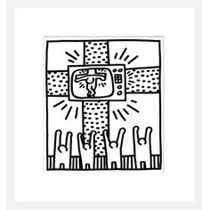 Haring—Plate 002, $650, now featured on Fab.