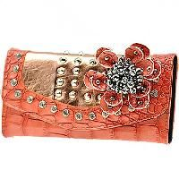 Rhinestone Studded Coral Croc Wallet Cute Wallets, Cow Print, Feeling Great, Sport Fashion, Coral, Bling, My Style, Stylish, How To Wear