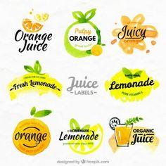 Oranges et citrons étiquettes