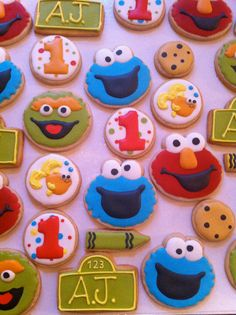Hey, I found this really awesome Etsy listing at http://www.etsy.com/listing/125651556/sesame-street-decorated-sugar-cookies