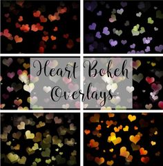 Free bokeh heart overlays for your Valentine's Day photos! Great for use in Photoshop or other photo editing programs that work with layers.