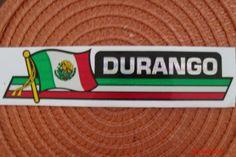 Durango-Mexico-Flag-Reflective-Sticker-Coated-Finish-Side-Kick-Decal-12x2-12