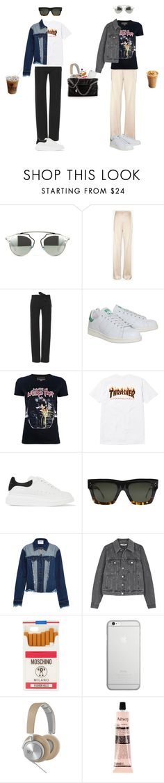 """""""Trashing"""" by mariamaegaard ❤ liked on Polyvore featuring 10 Crosby Derek Lam, Alexis Mabille, adidas, Balenciaga, Alexander McQueen, CÉLINE, Ground-Zero, Givenchy, Moschino and Native Union"""