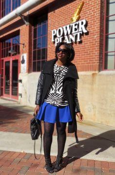 The Language of Yolande : zebra + blue flare